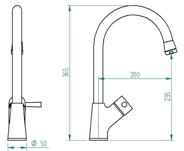 Single Handle Pull Out Faucet