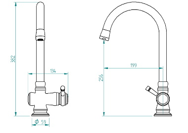 Single Handle Traditional Kitchen Faucet